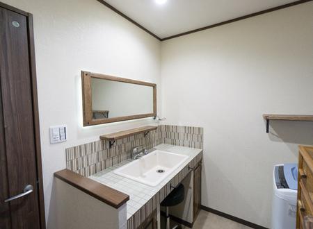 枚方市 タイル貼オリジナル洗面台 施工例