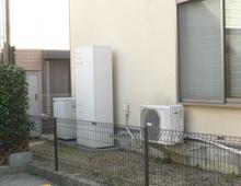 枚方市 エコウィルから、エコジョーズ型給湯器に交換工事